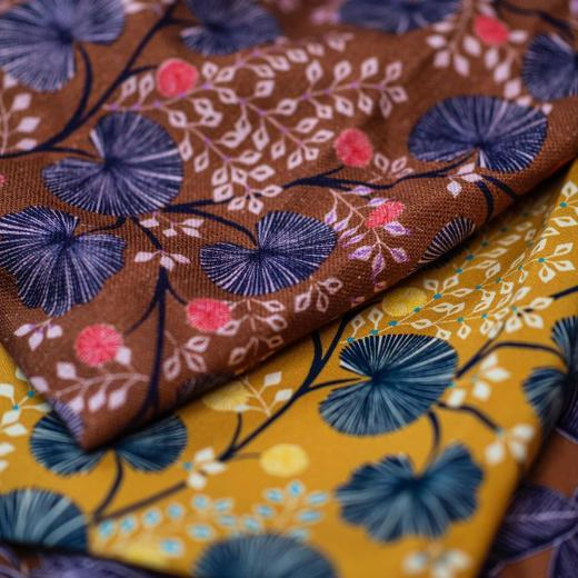 «Pondichery» created by @studio_inkfabrik is printed on linen or cotton and coming very soon #springsummer #newcollection #creativity #yellow #caramel #colors #highquality #frenchlifestyle #prints #set design @anne_pericchidraeger and #photos @anneemmanuellethion