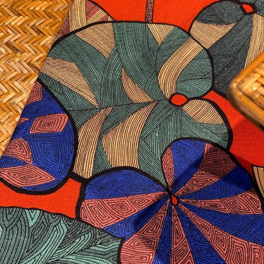 « Idris » printed on Linen and shot at the @hotelmontecristoparis #linen #colors #artdeco #design #colors #interiordesign