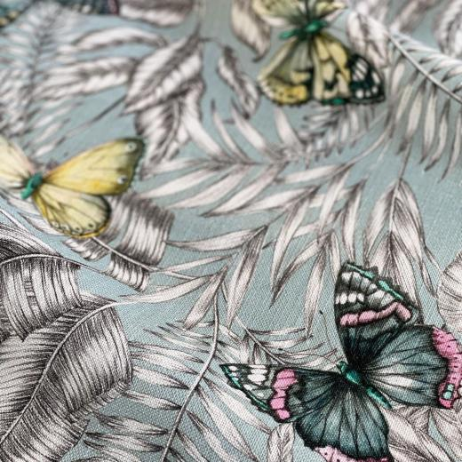 Linen & Butterflies, our print « Bohème » #linen #butterfly #print #interiordecor #homedecor #quality #thevenon #frenchlifestyle