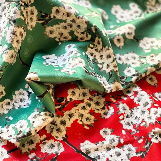 """Coming soon printed on velvet """"printemps au Japon"""" #japandesign #newcollection #comingsoon #interiordesign #homedecor"""