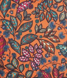 RAINBOW TREE GRAND fond orange corail sur velours - OEKO-TEX
